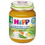 HIPP Био бебешко пюре нежни зеленчуци и ориз 4м+ 125 гр.